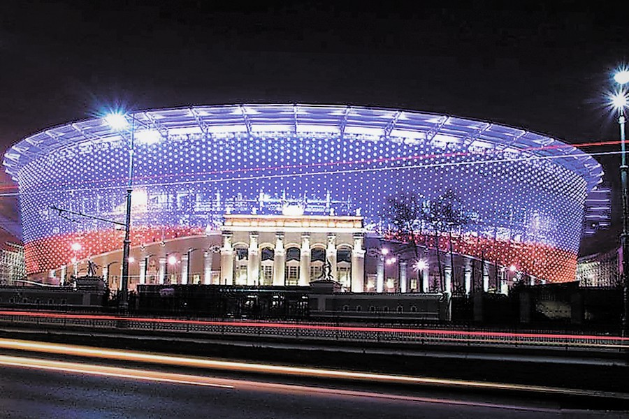 10 футбольных стадионов в России освещены решениями Philips