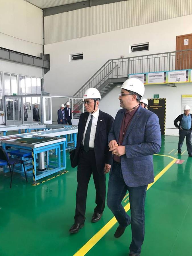 Делегация из Японии на Кентауском трансформаторном заводе