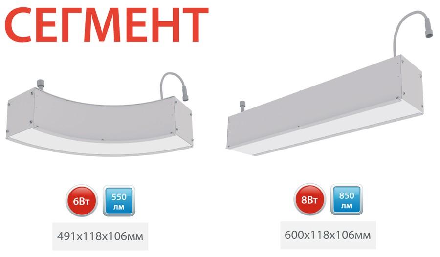 Компания ООО «ЛЕД-Эффект» сообщает о начале производства новой серии светильников — «Сегмент»