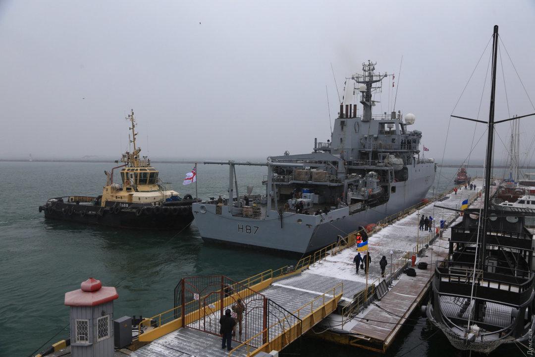 Военный корабль НАТО прибыл в Одессу