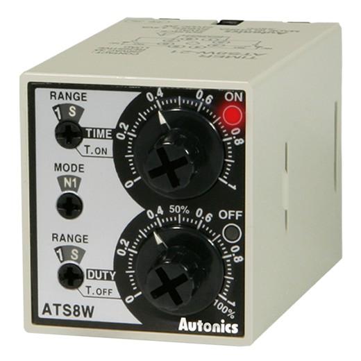 12 диапазонов уставок времени: доступны аналоговые многофункциональные таймеры Autonics серии ATS8W/11W