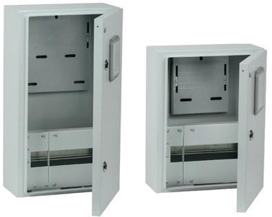 Корпуса металлические ЩУРН IP54 IEK® с окном — для защиты оборудования и учета показаний счетчика