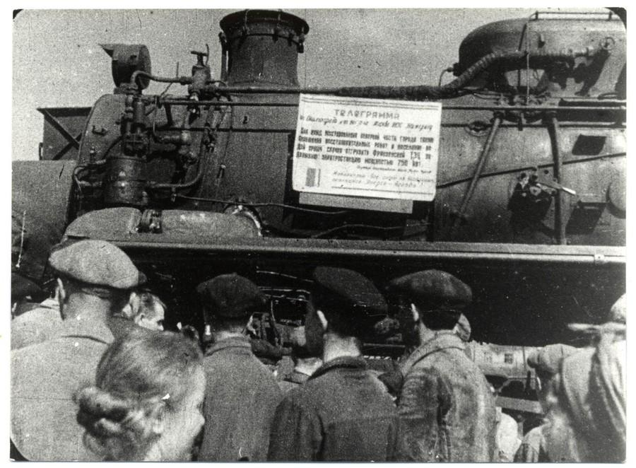 Электроэнергия «на рельсах» во время Великой Отечественно войны