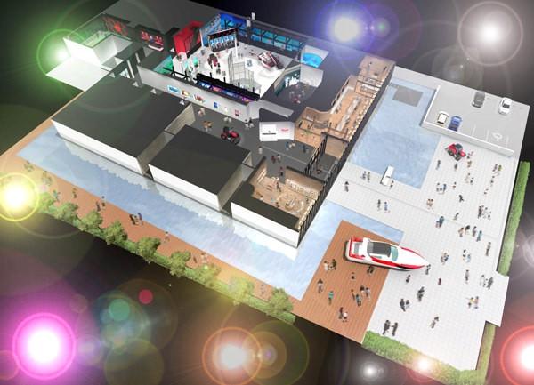 Перспективное изображение музея Yanmar после ремонта