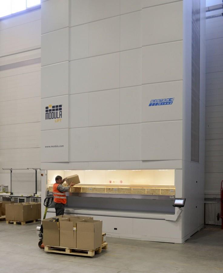 Система лифтового хранения Modula в ОСК «Щербинка»
