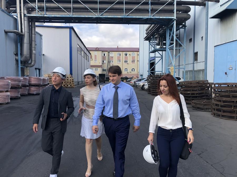 Представители NAGAKI на заводе Москабельмет