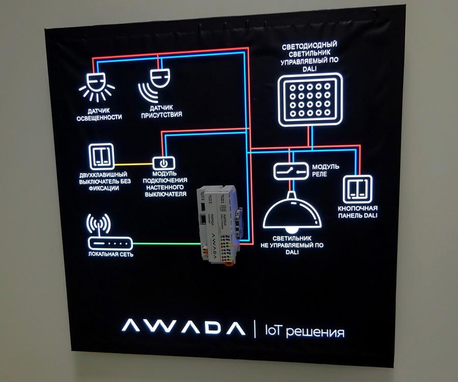 Российская система управления освещением AWADA